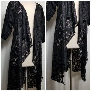 LuLaRoe Other - LuLaRoe Shirley Full Bloom Rose Kimono Wrap S
